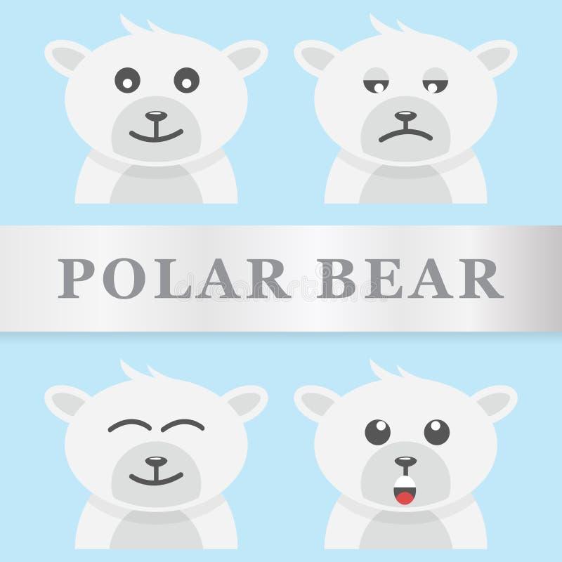 Projeto do vetor do urso polar ilustração royalty free