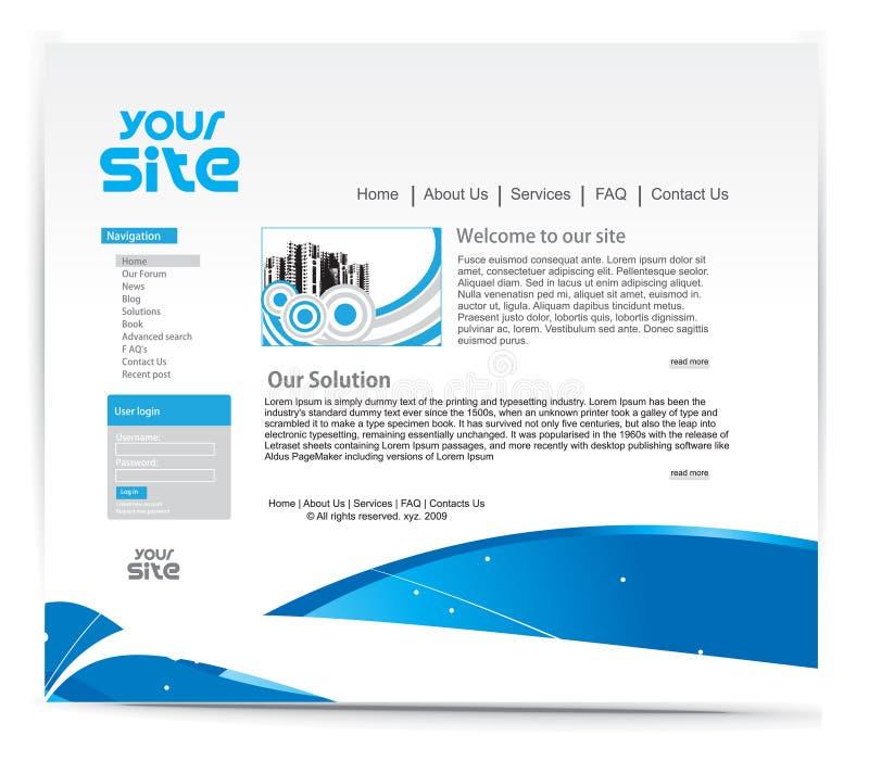 Projeto do Web site ilustração stock