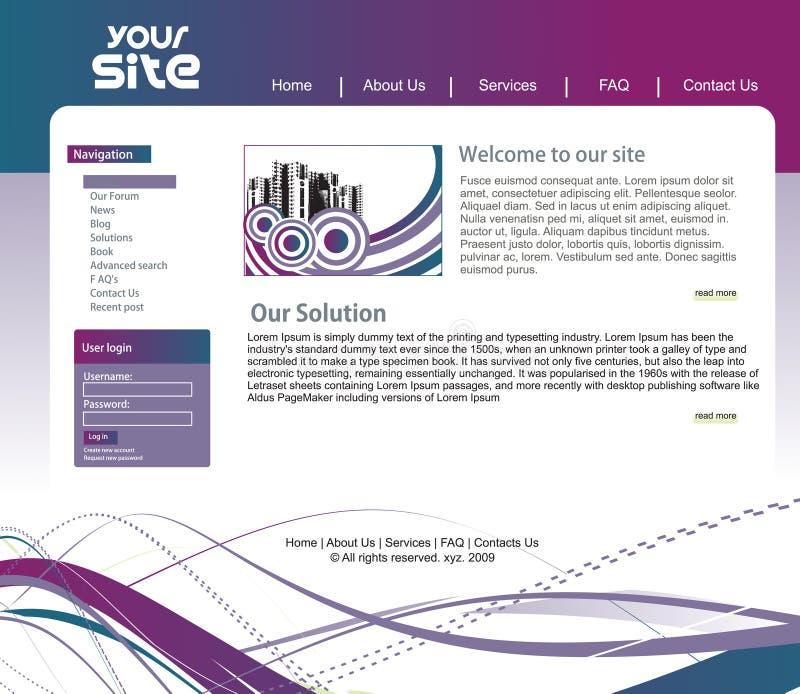 Projeto do Web site ilustração do vetor