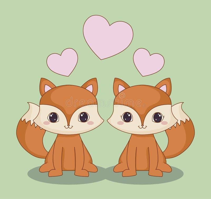 Projeto dos animais de Kawaii ilustração stock