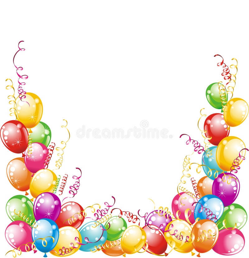 Projeto dos balões ilustração royalty free