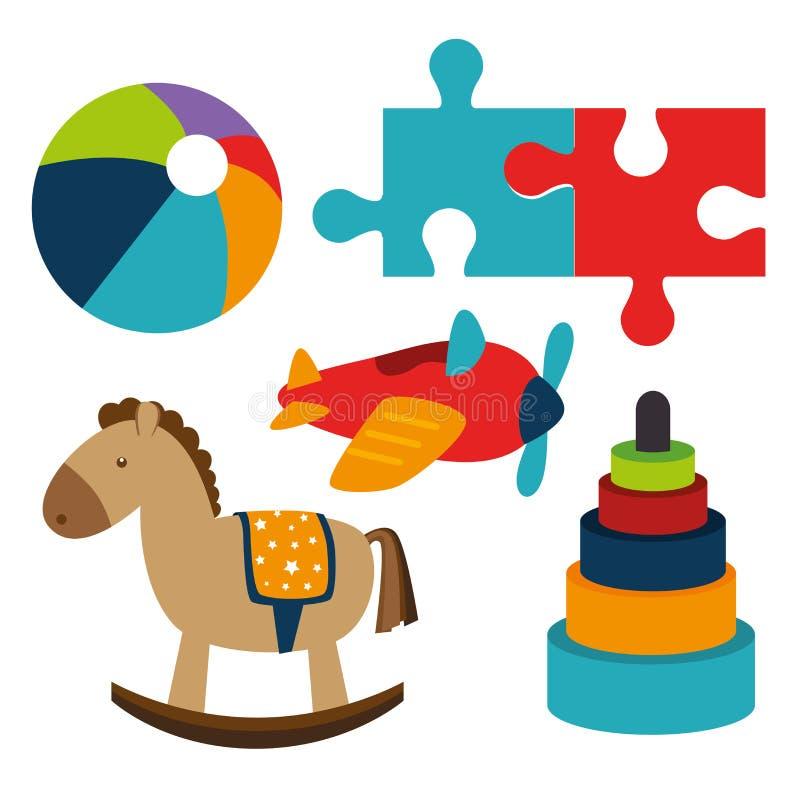 Projeto dos brinquedos ilustração stock