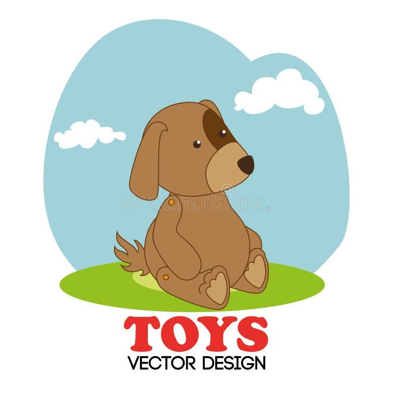 Projeto dos brinquedos sobre a ilustração branca do vetor do fundo ilustração stock