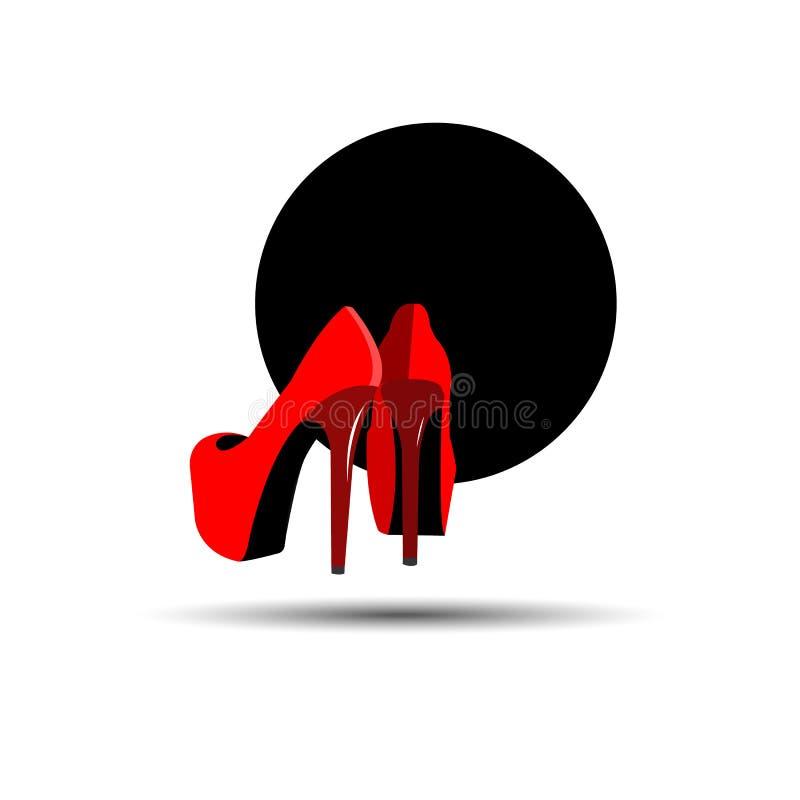 projeto dos calçados do esboço da silhueta da ilustração da forma ilustração do vetor