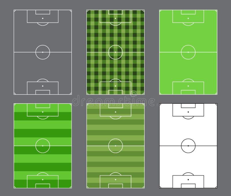 Projeto dos campos de futebol ilustração do vetor