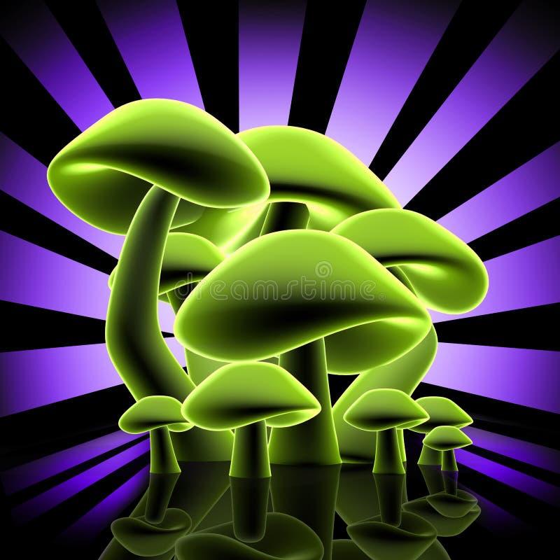 Projeto dos cogumelos ilustração do vetor