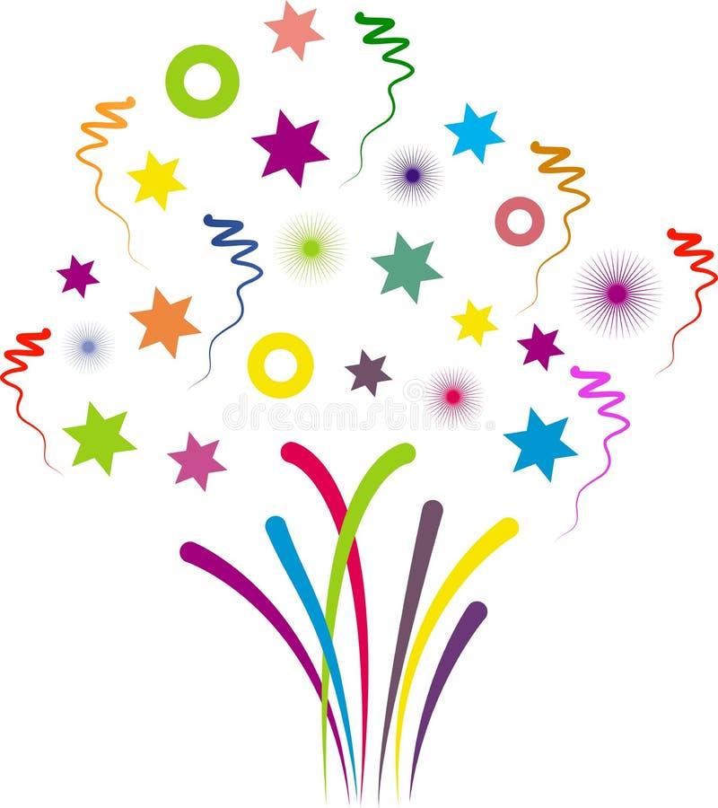 Projeto dos confetes da celebração ilustração royalty free