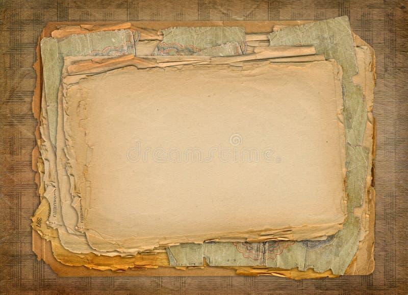 Projeto dos papéis de Grunge ilustração do vetor
