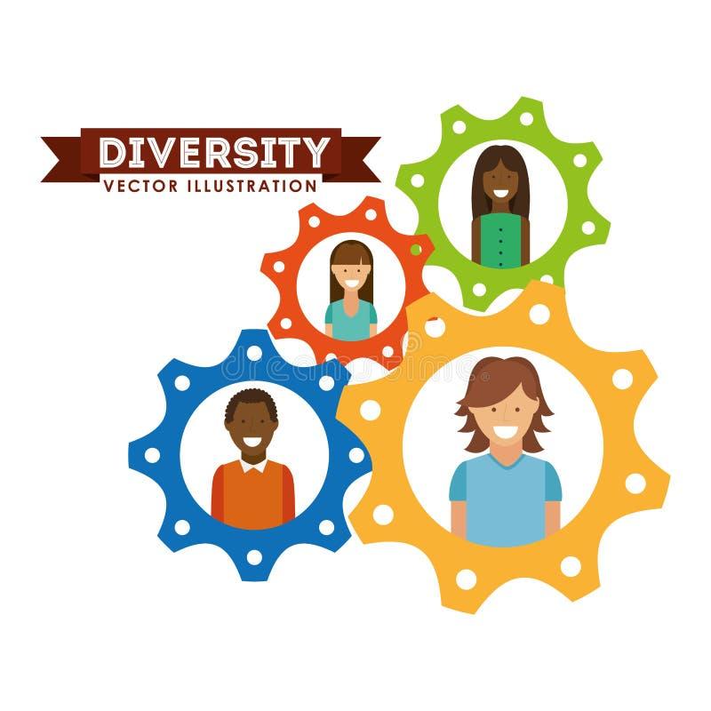 Projeto dos povos da diversidade ilustração royalty free