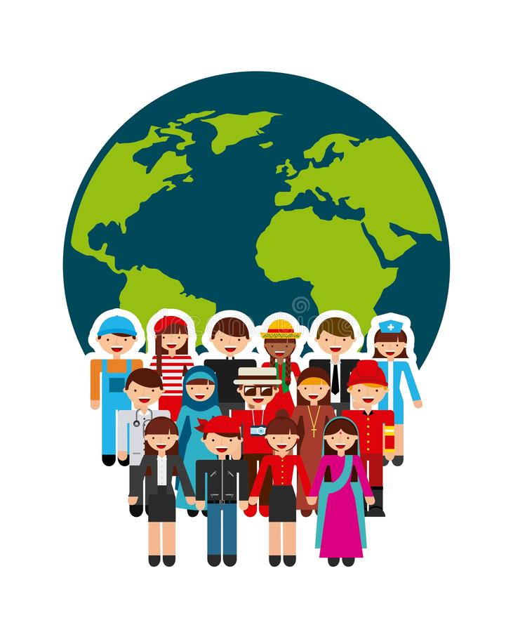 Projeto dos povos da diversidade ilustração stock
