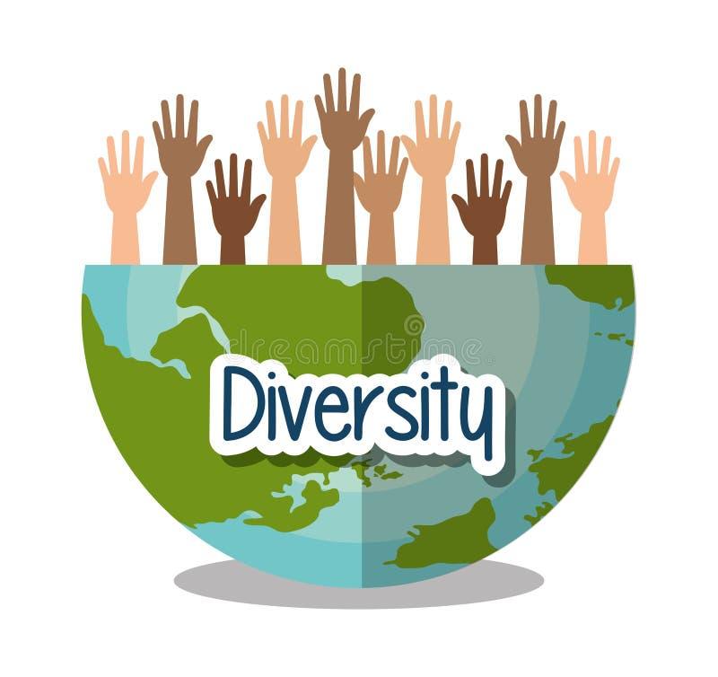 Projeto dos povos da diversidade ilustração do vetor