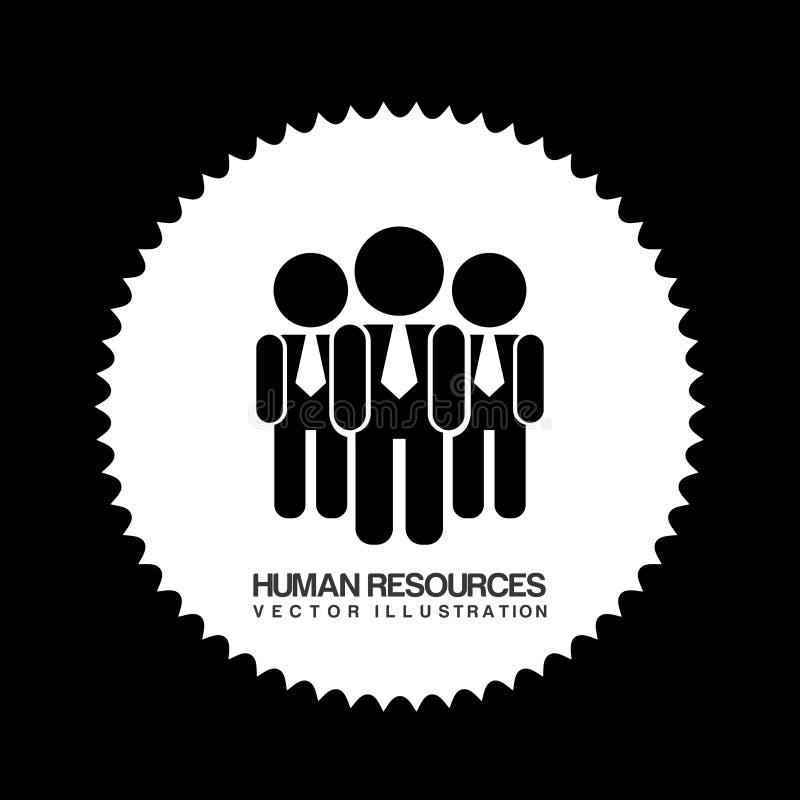 Projeto dos recursos humanos ilustração royalty free