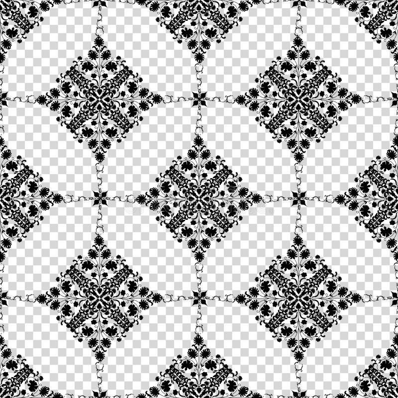 Projeto dos seamlees de Art Nouveau ilustração stock