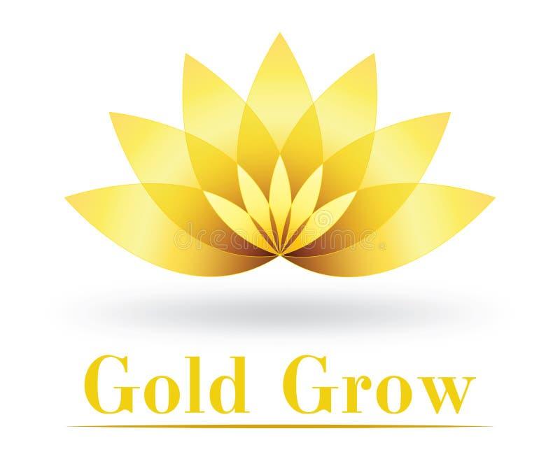 Projeto dourado do logotipo da cidade ilustração royalty free
