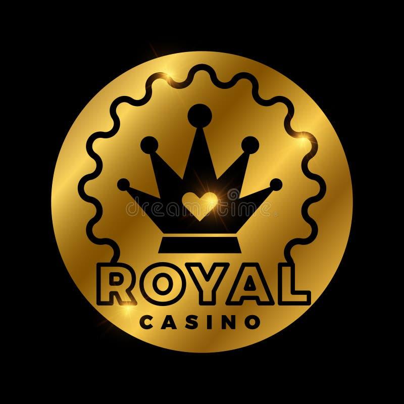 Projeto dourado do vetor do casino real ilustração royalty free