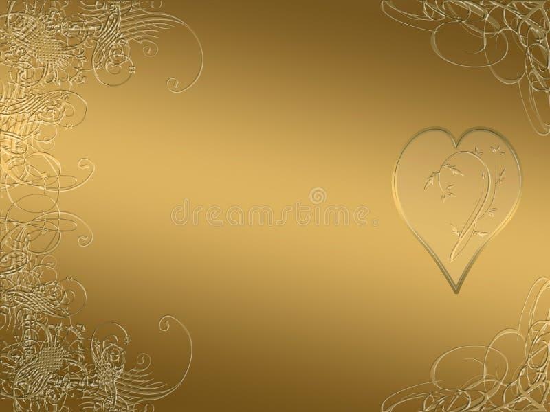 Projeto dourado elegante do arabesque ilustração royalty free