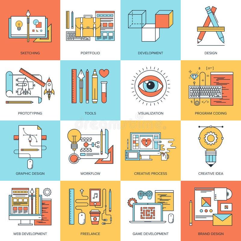 Projeto e desenvolvimento ilustração do vetor