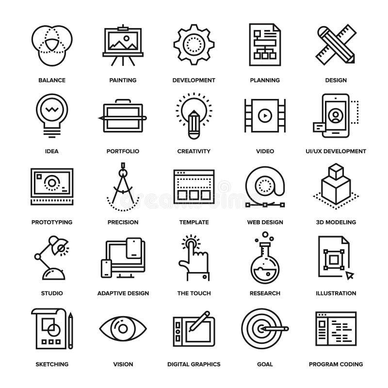 Projeto e desenvolvimento ilustração stock