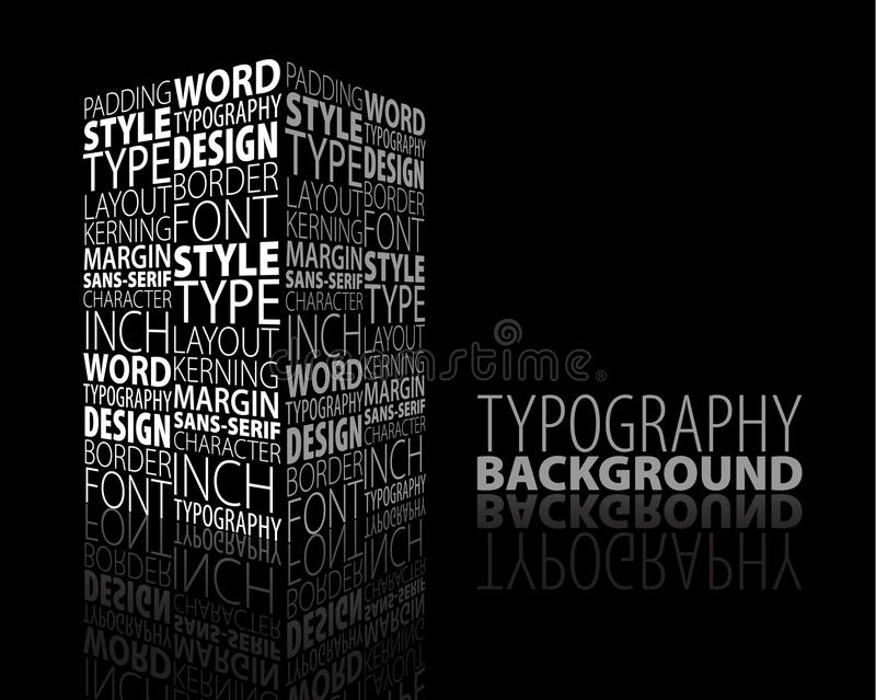 Projeto e fundo abstratos do typography ilustração royalty free