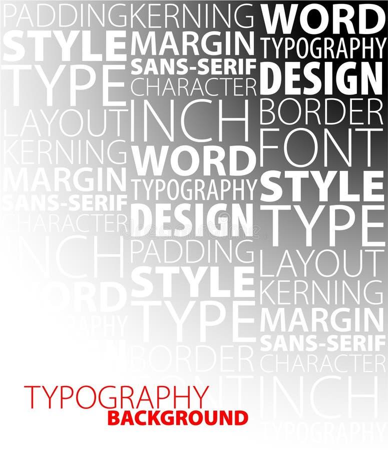 Projeto e fundo do typography ilustração royalty free