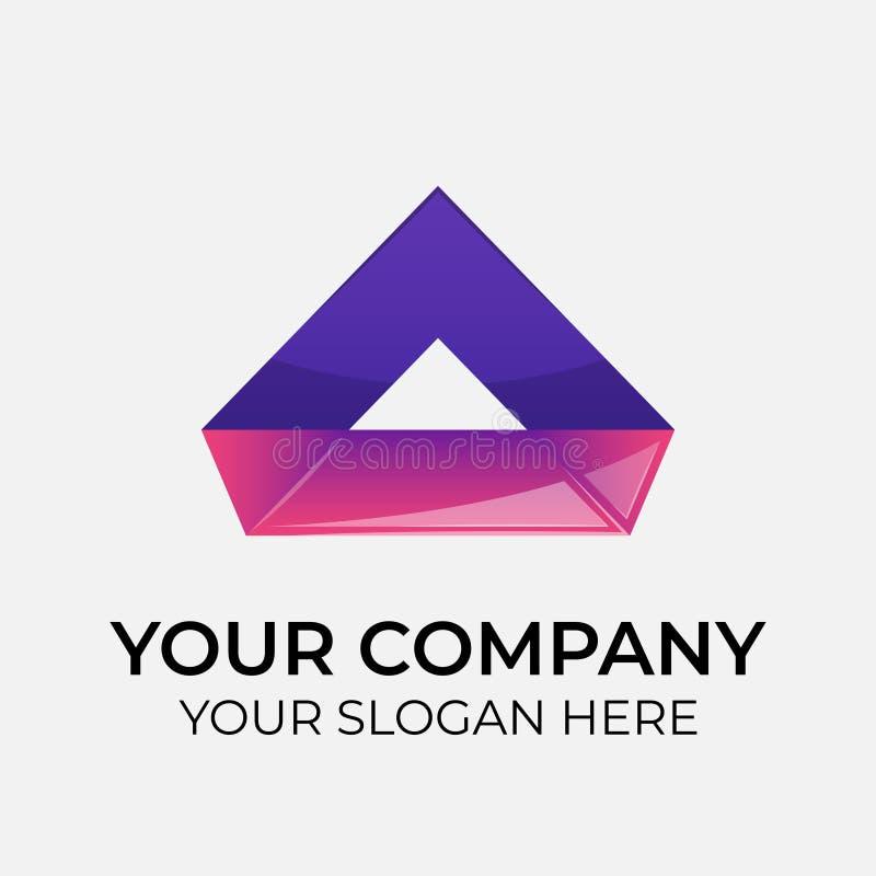 projeto e identidade coloridos do logotipo do vetor para a empresa ilustração do vetor