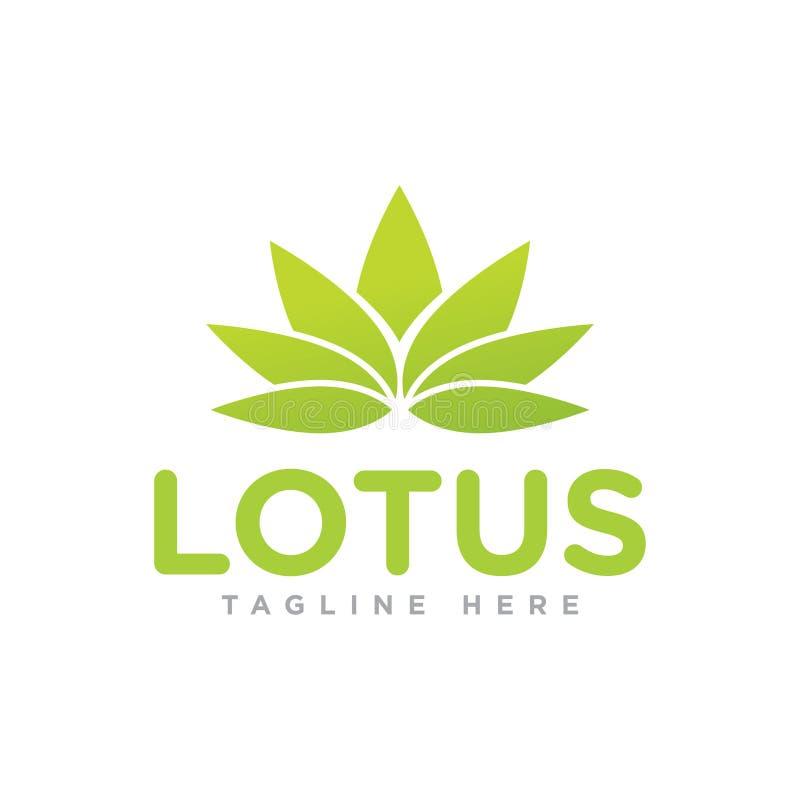 Projeto e molde verdes do logotipo de Lotus da natureza imagem de stock royalty free