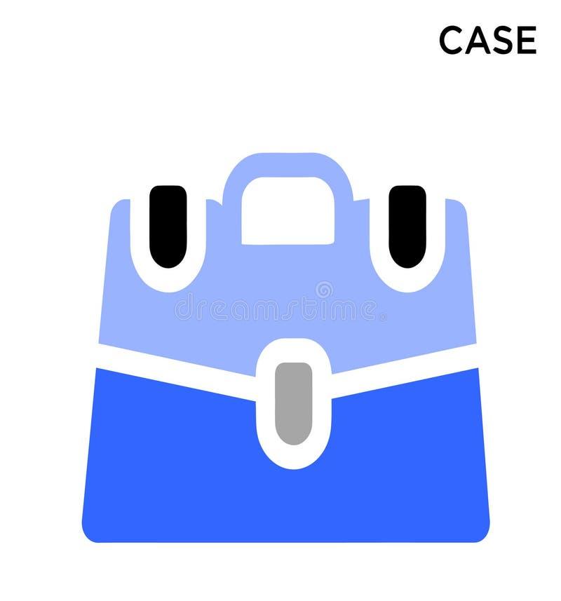 Projeto editável do símbolo do ícone do caso ilustração stock