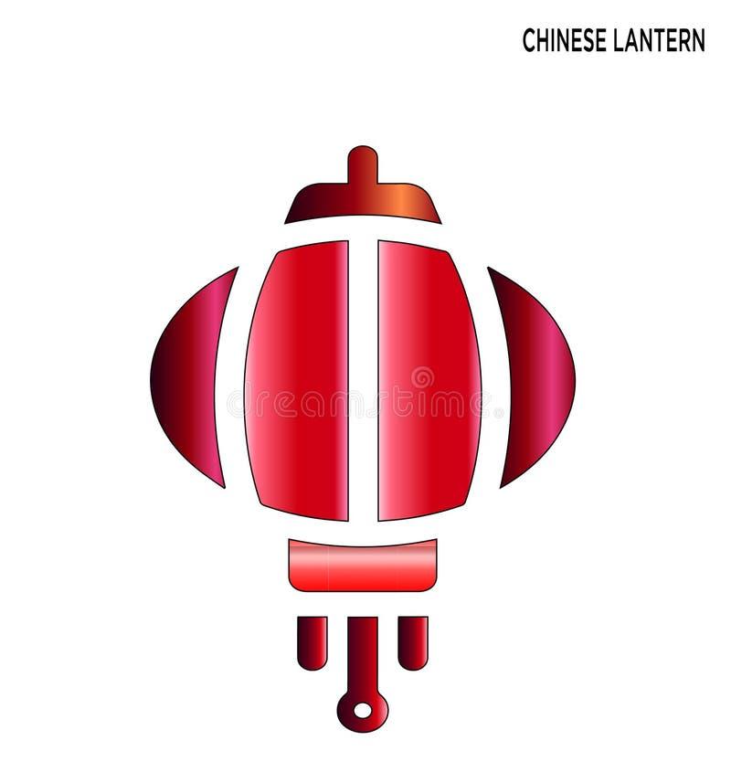 Projeto editável do símbolo do ícone chinês da lanterna ilustração do vetor