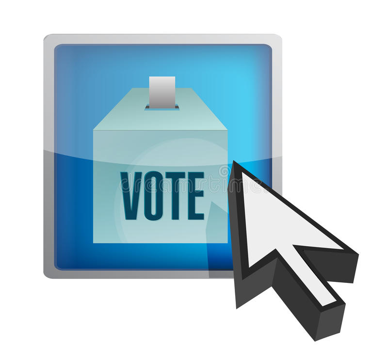 Projeto em linha da ilustração do conceito do voto ilustração do vetor