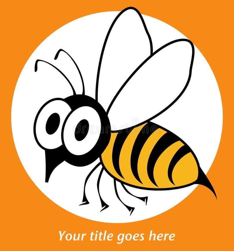 Projeto engraçado da vespa ou da abelha. ilustração stock