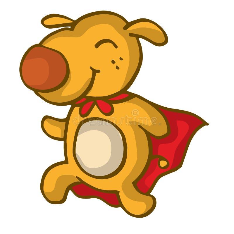 Projeto engraçado dos desenhos animados do cão super ilustração do vetor