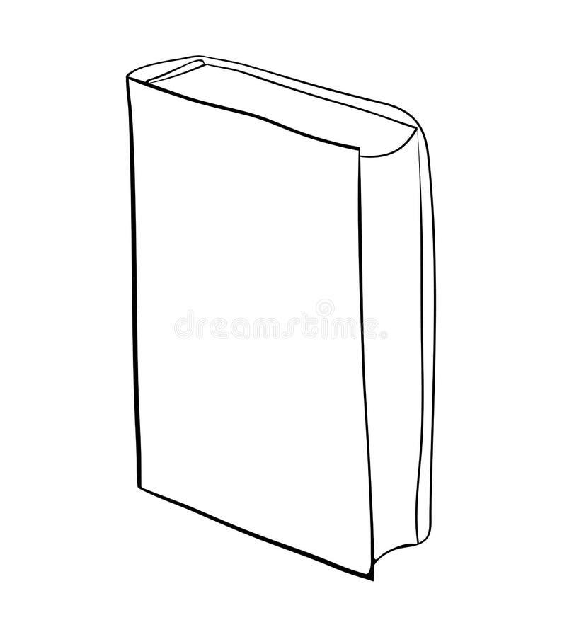 Projeto ereto do ícone do símbolo do vetor dos desenhos animados do livro fechado Beautifu ilustração do vetor