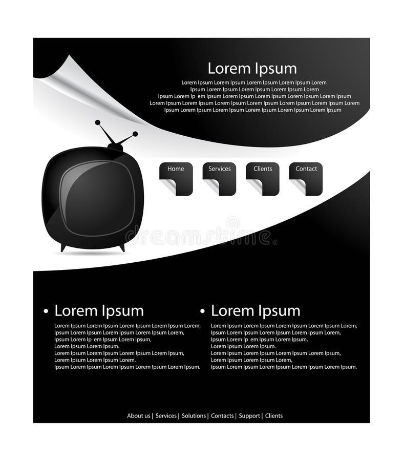 Projeto estilizado do molde do Web site. ilustração stock