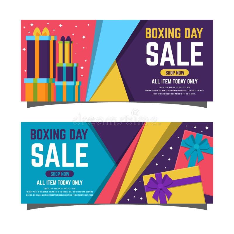 Projeto feliz com caixas de presente, economias grandes de compra da venda da São Estêvão do feriado imagem de stock royalty free