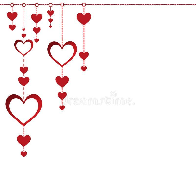 Projeto feliz da ilustração do dia de são valentim com corações pequenos foto de stock royalty free