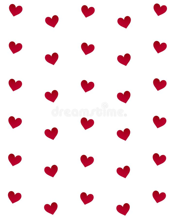 Projeto feliz da ilustração do dia de são valentim com corações pequenos fotografia de stock