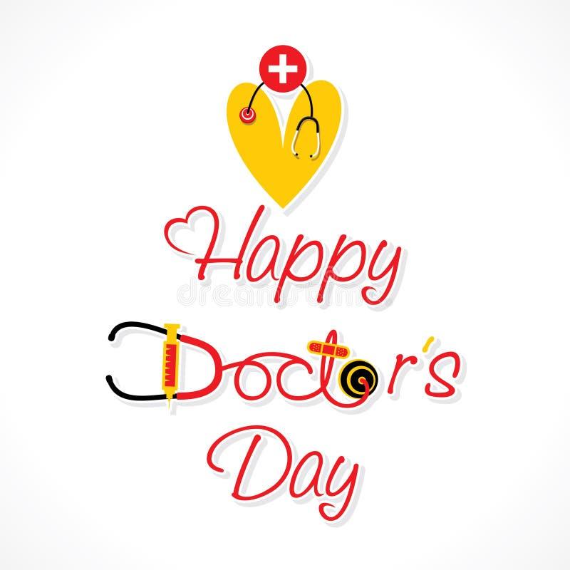 Projeto feliz do dia do doutor ilustração royalty free