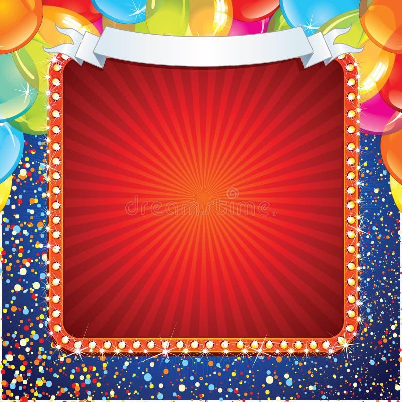 Projeto festivo do sinal da celebração ilustração stock