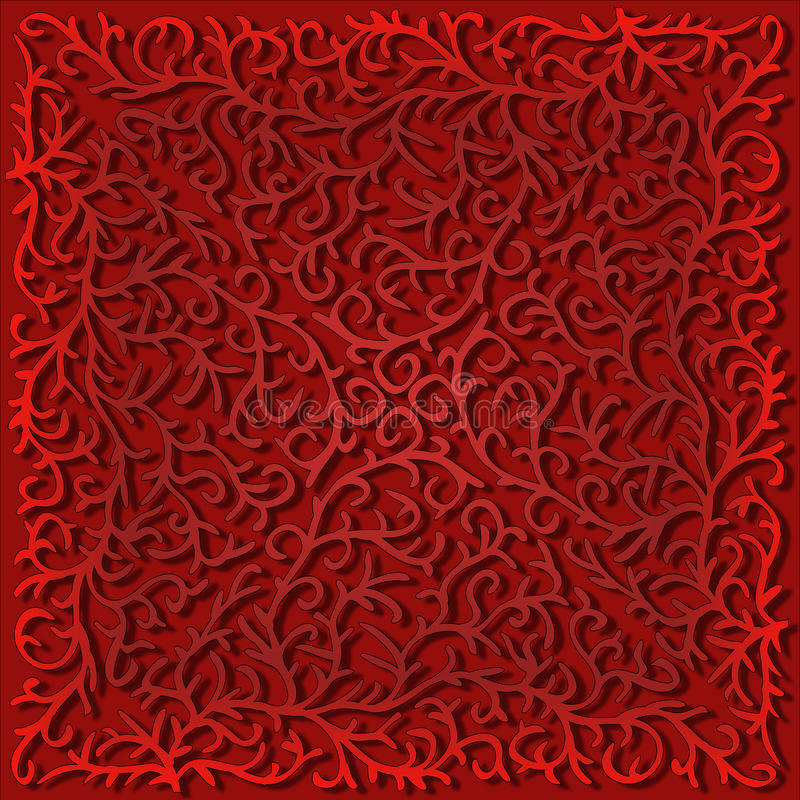 Gráfico filigrana do laço, vermelho fotos de stock royalty free