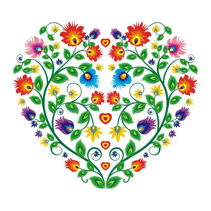 Projeto floral étnico mexicano bonito da decoração ilustração stock