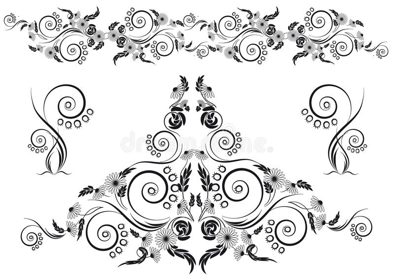 Download Projeto floral ilustração do vetor. Ilustração de bonito - 26500057