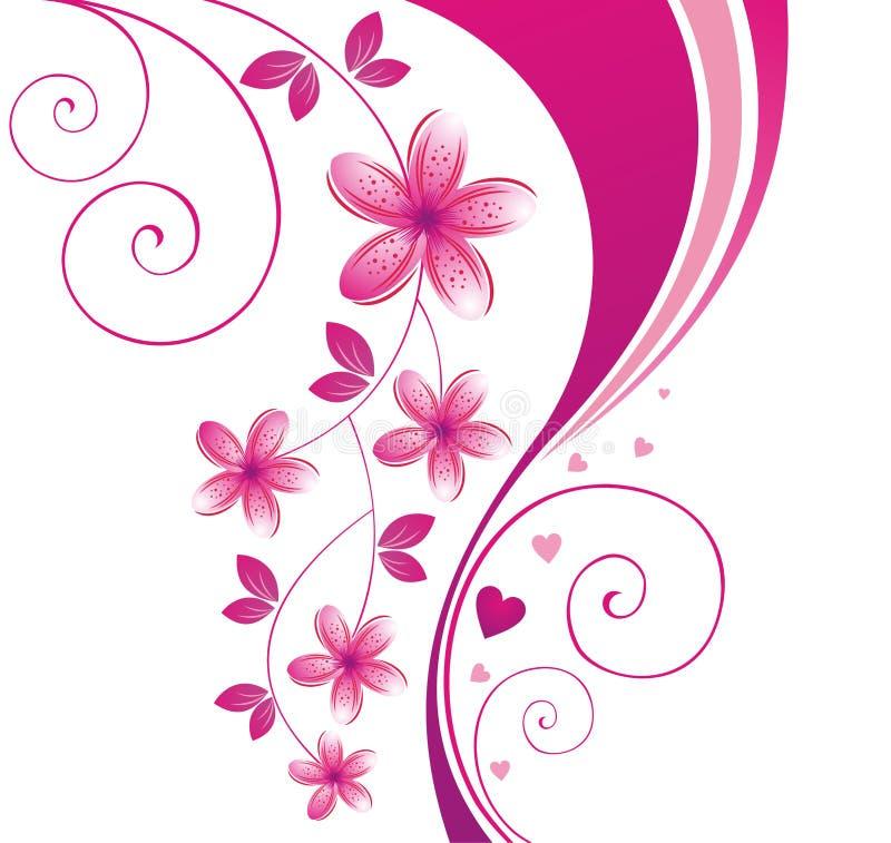 Projeto floral. ilustração royalty free