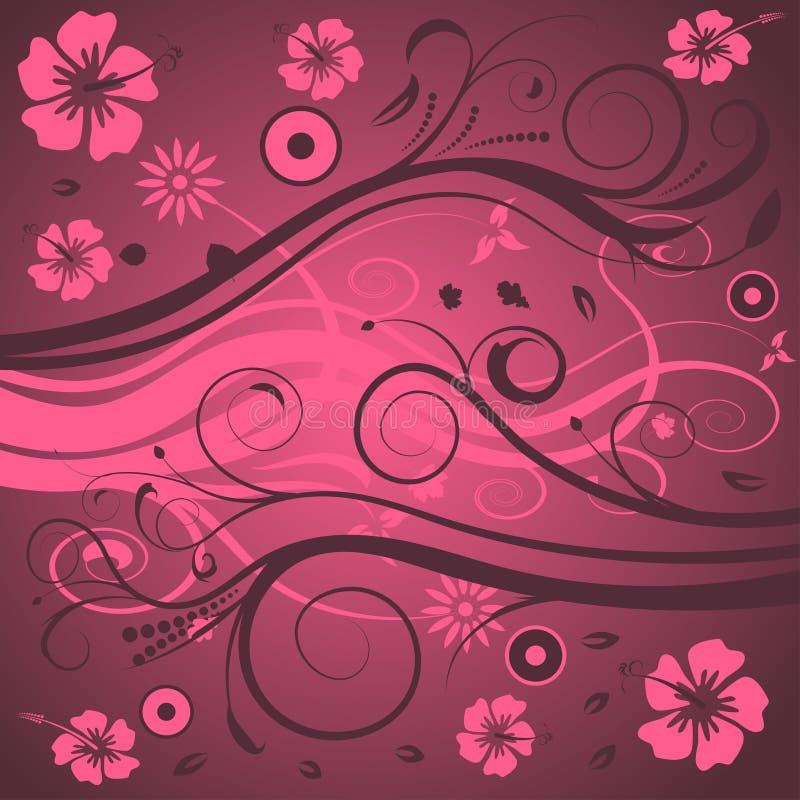 Projeto floral abstrato ilustração do vetor