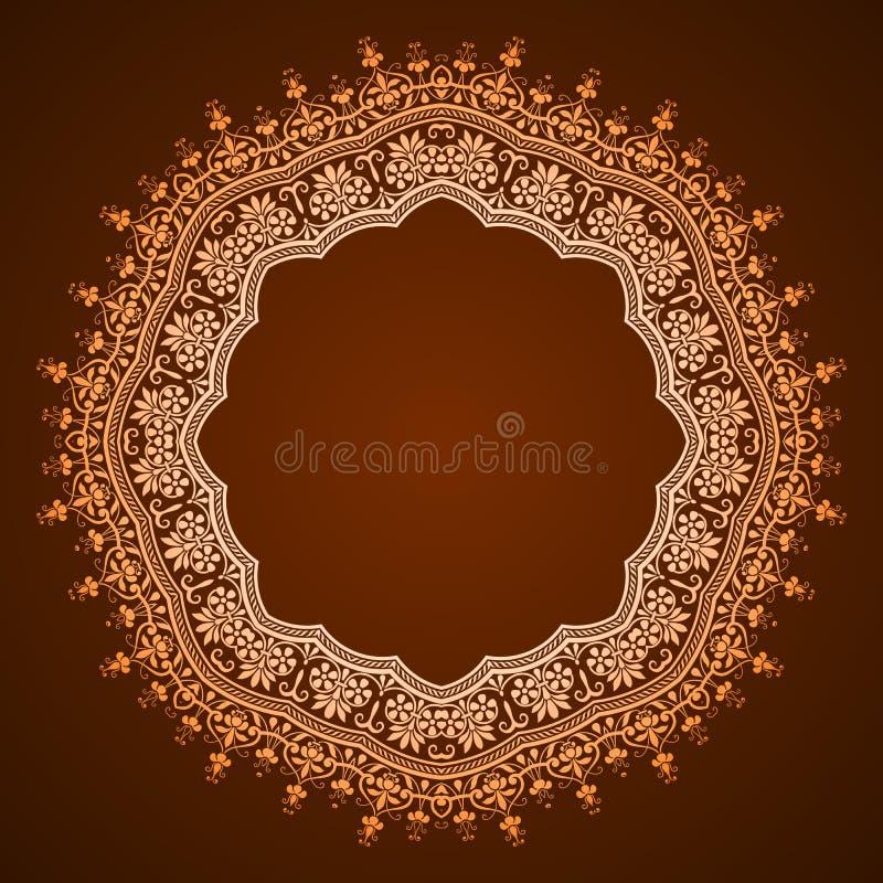 Projeto floral abstrato do quadro ilustração royalty free