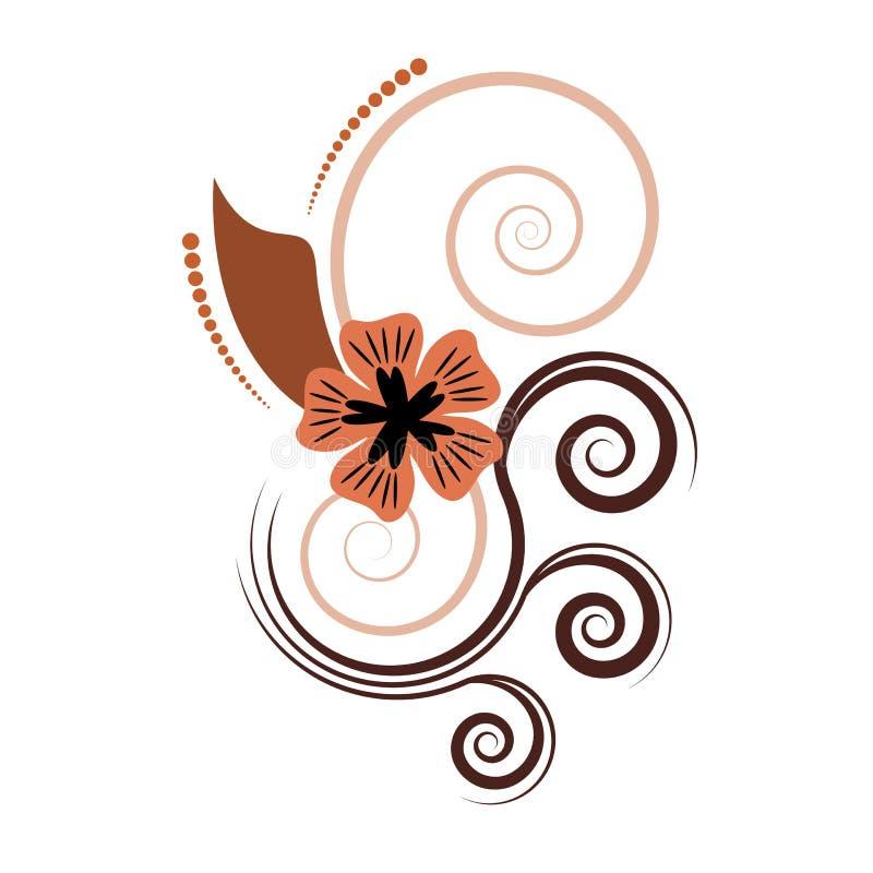 Projeto floral abstrato do vetor imagem de stock royalty free