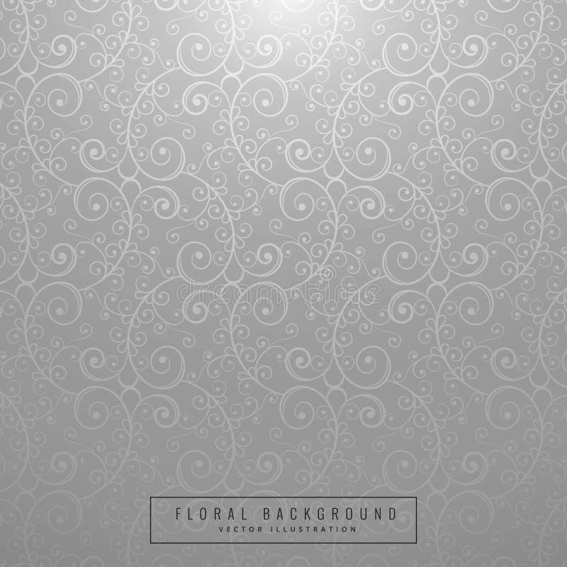 Projeto floral cinzento bonito do fundo ilustração stock