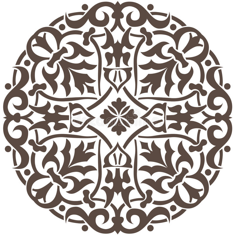 Projeto floral circular fotografia de stock royalty free