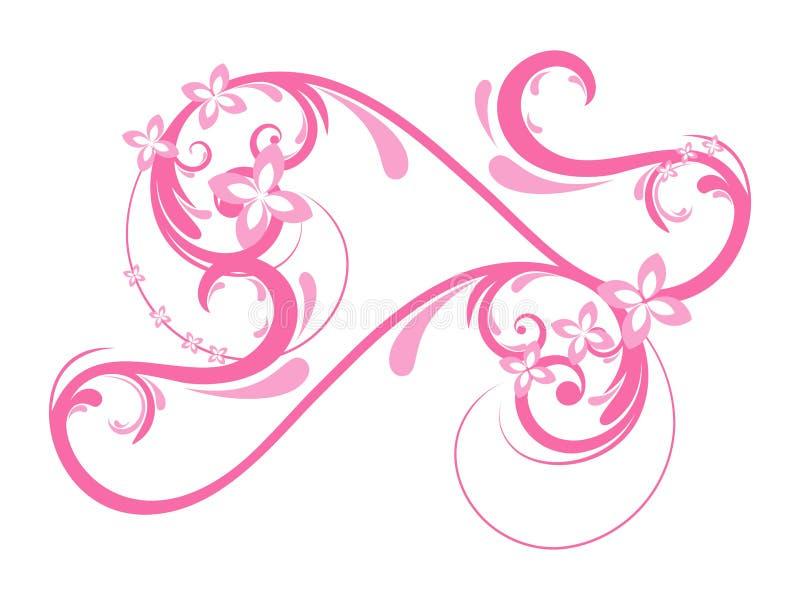 Projeto floral creativo abstrato do coração ilustração royalty free