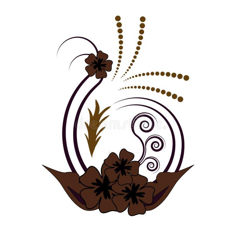 Projeto floral da flor imagens de stock royalty free