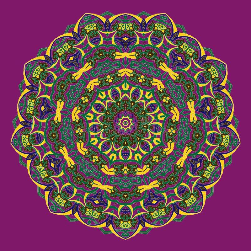 Projeto floral decorativo tradicional de paisley Fundo do ornamento ilustração stock